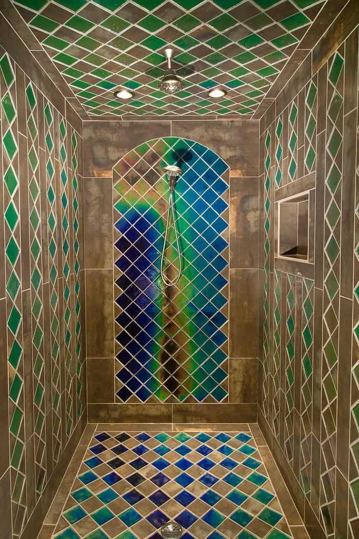 heat sensitive tiles shower