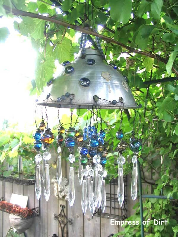 jeweled hanging pot