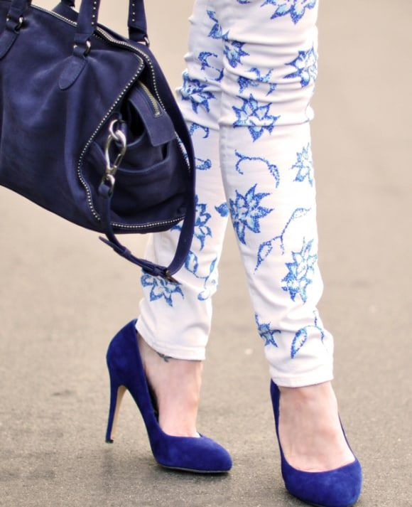 sharpie lace printed jeans