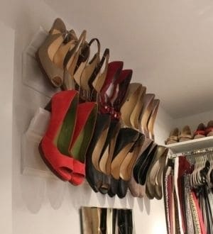 molding to create shoe rack