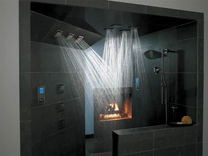 Multi Nozzle Shower With Shower Designs With Body Sprays.