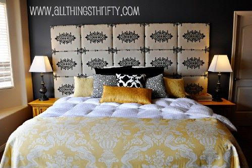 quilted fabric headboard