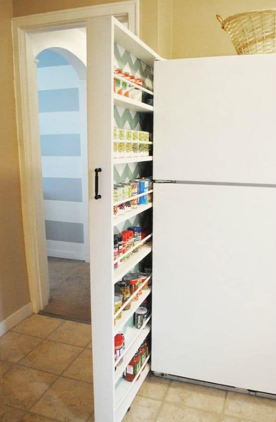 secret sliding pantry
