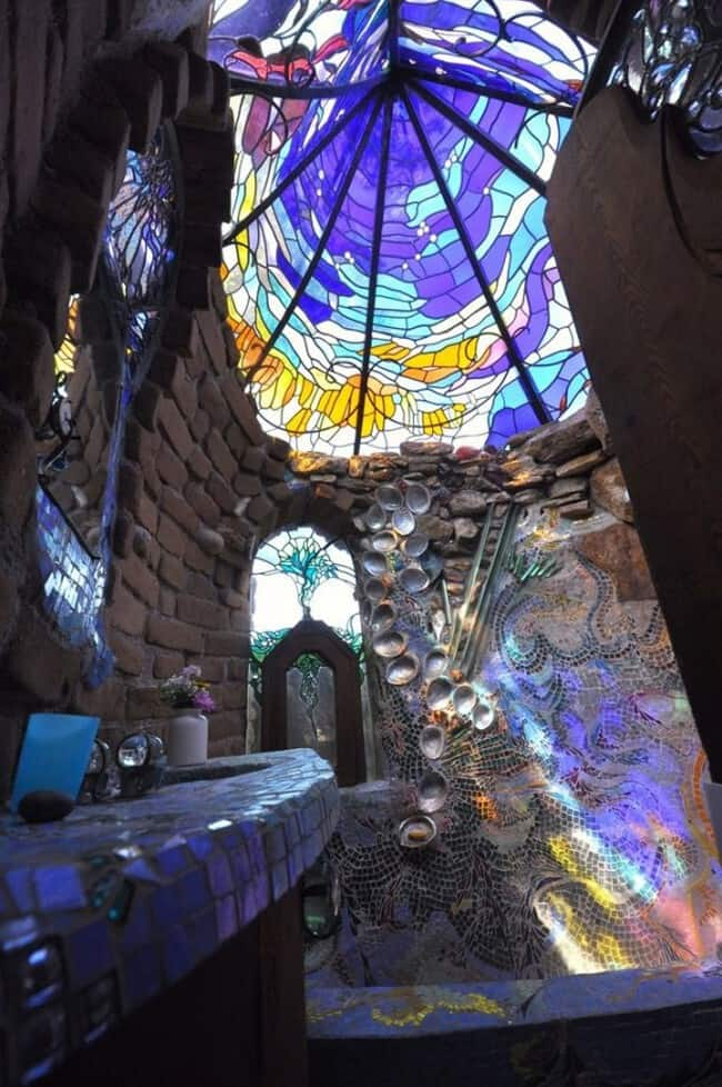 stained glass shower