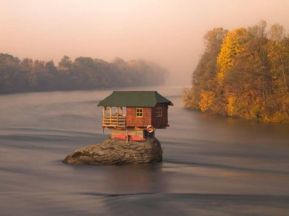 tiny house on a rock serbia