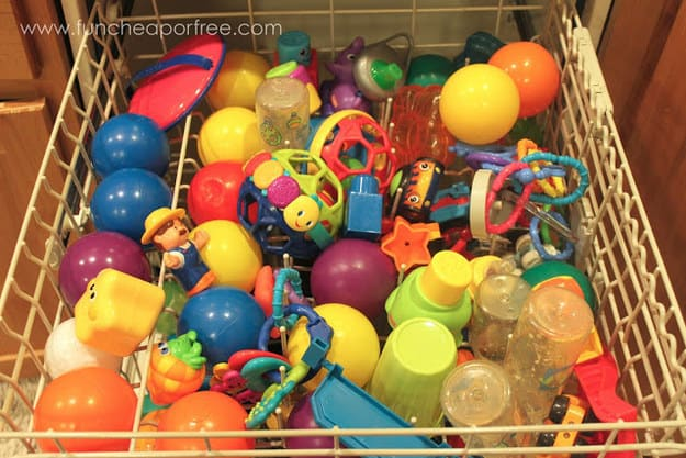 wash toys in dishwasher