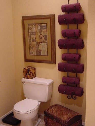 wine rack to store towels
