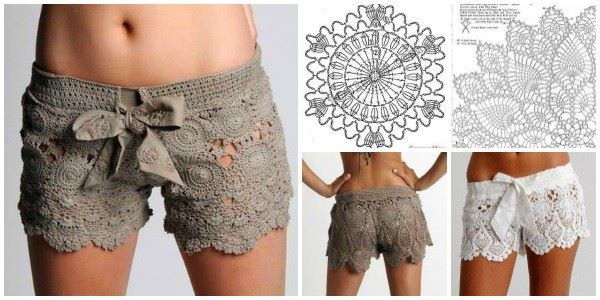 Make These Lovely Crochet Lace Shorts Pattern