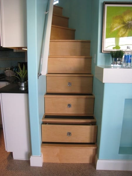 Staircase Doubles as Storage Area