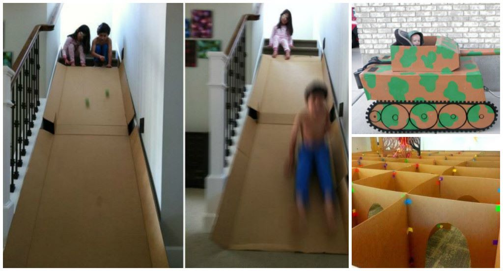 How To Have Way Too Much Fun With Cardboard Boxes DIY