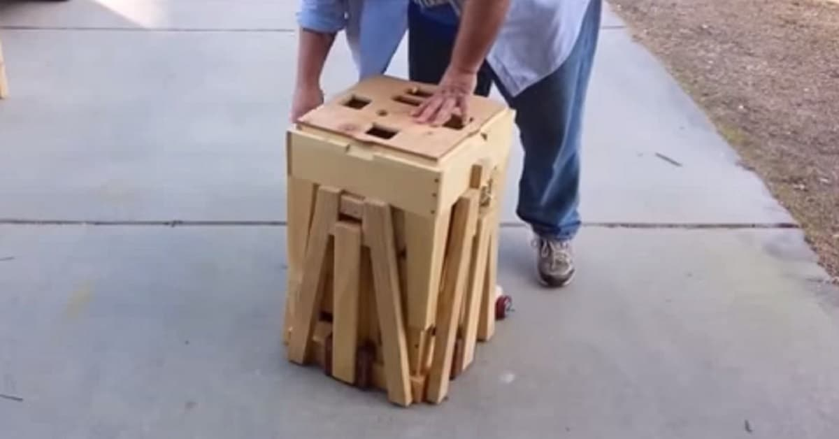 Watch This Wooden Box Transform Into A Table And Seating