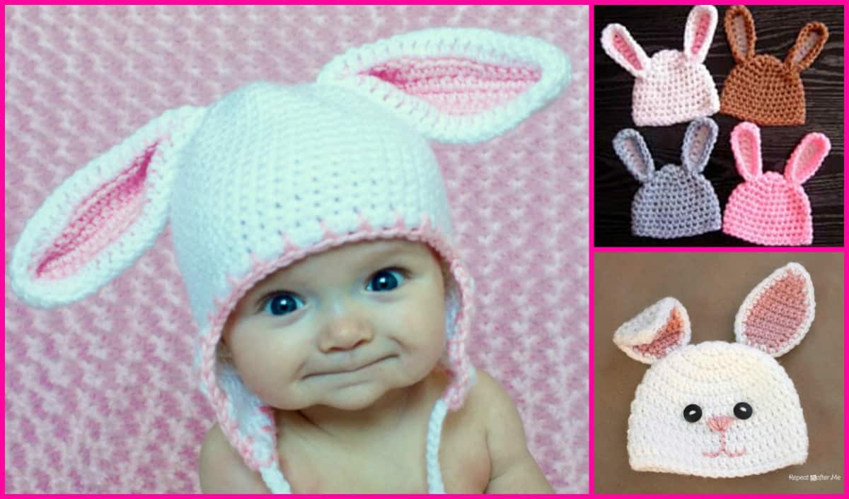 How To Crochet A Baby Beanie With Bunny Ears