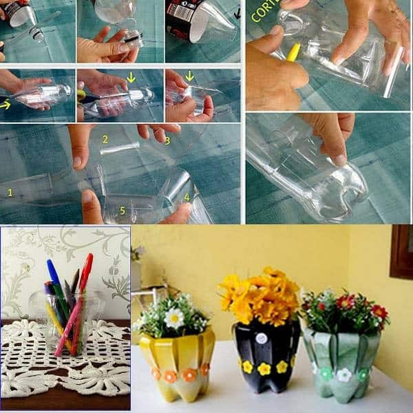 35 unique ways to reuse plastic bottles diy cozy home for Creative things to put in vases