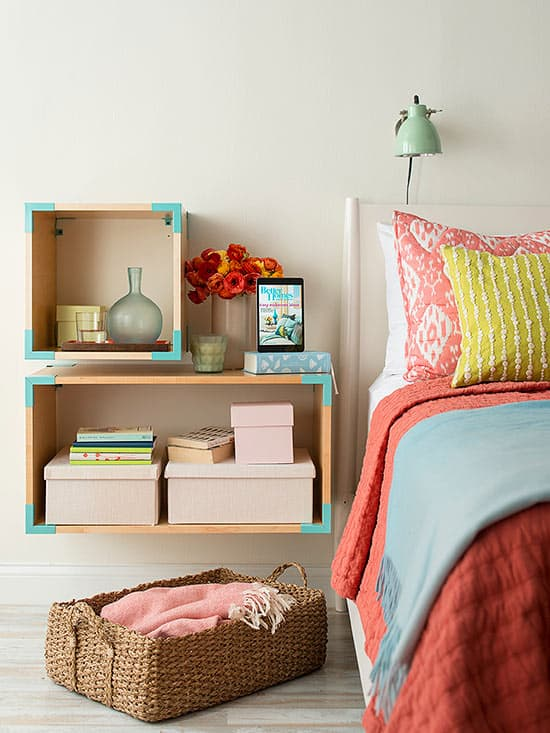 floating wooden nightstand