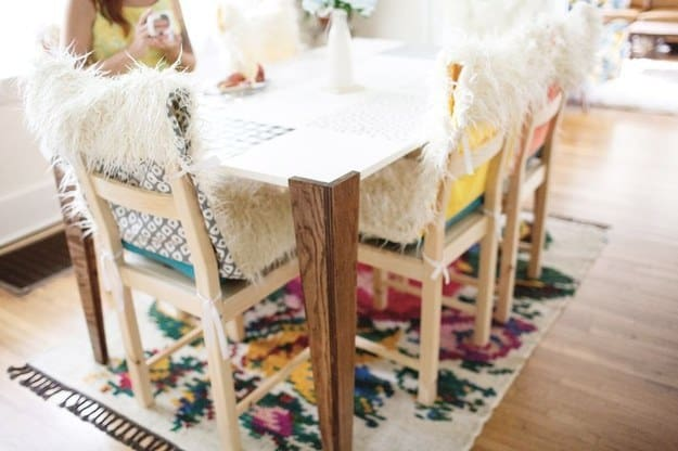 faux fur chair covers