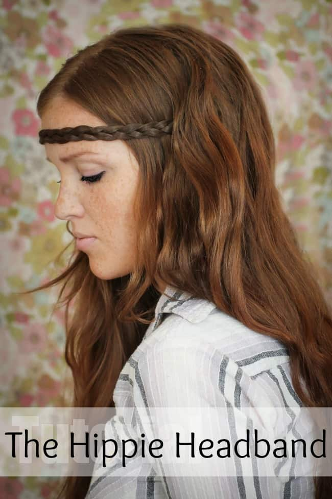 hippie headband hairstyle