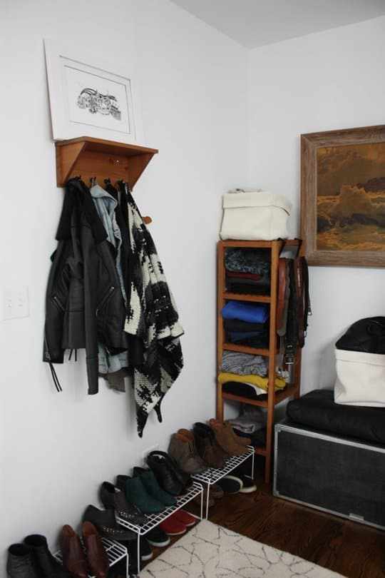 hooks in the closet