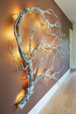 lighted branch wall art