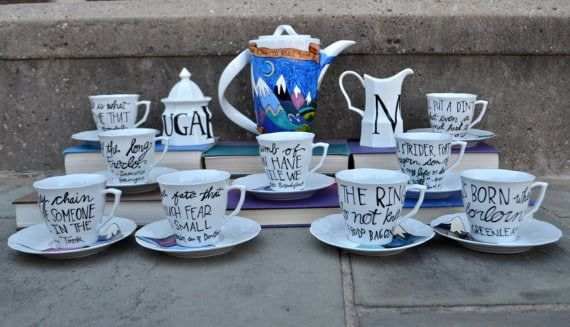 lord of the rings tea set