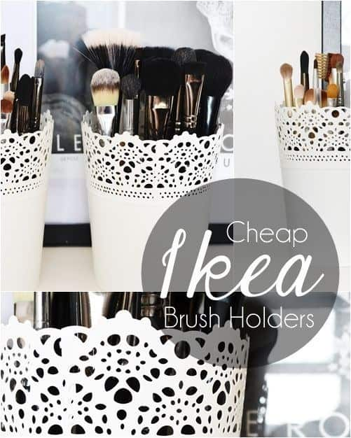 makeup brushes planters