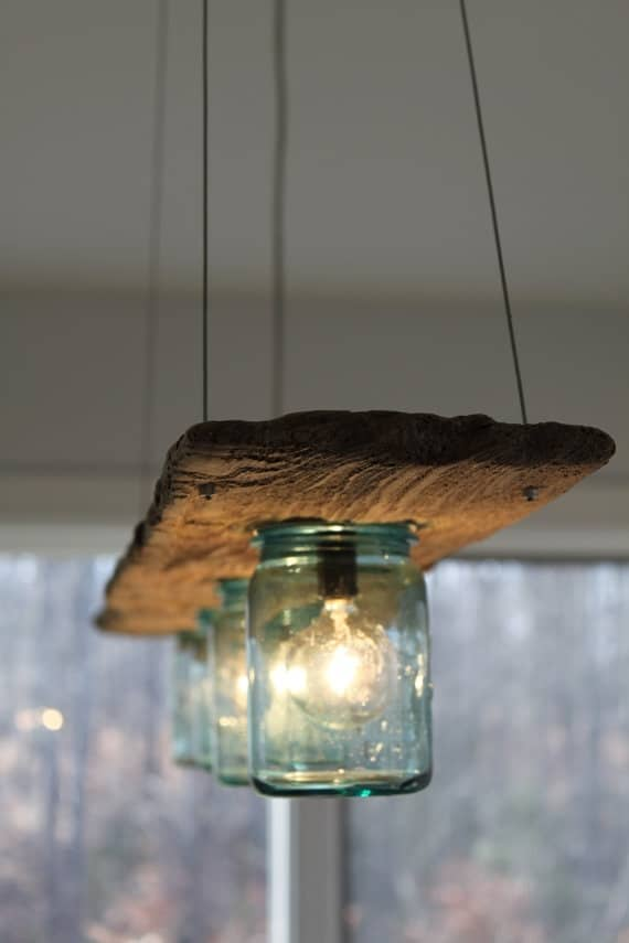 mason jar repurposed light