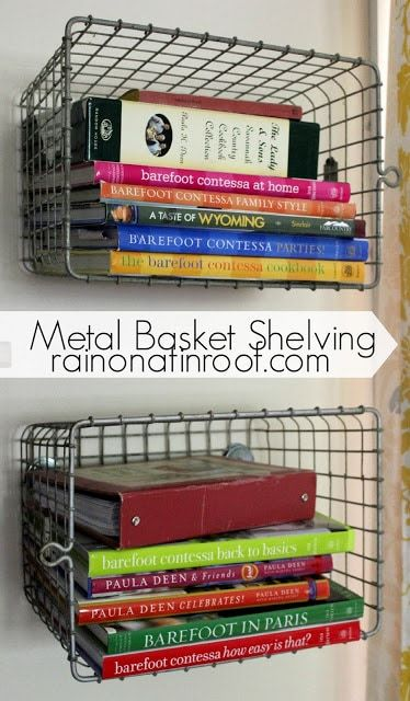 metal basket wall shelf