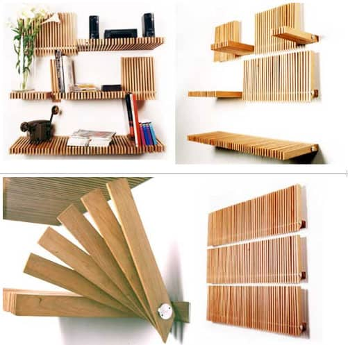 mobile wooden shelf