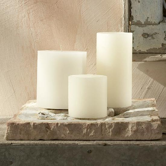 neutral unscented candles