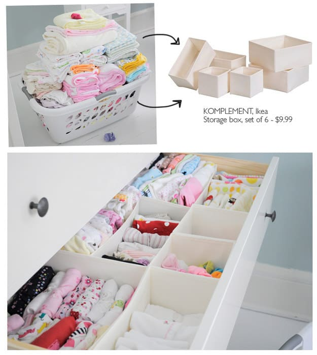 organize drawer components