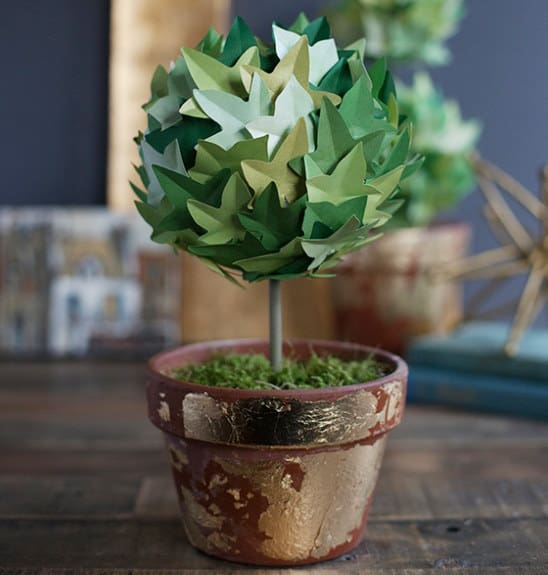 paper topiary plant