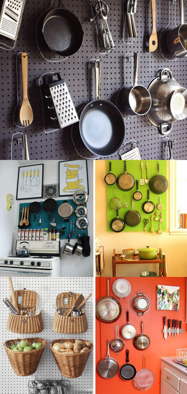 peg board pots and pans