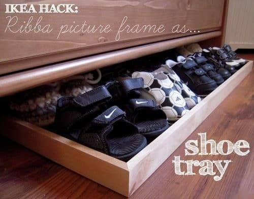 picture frame shoe tray