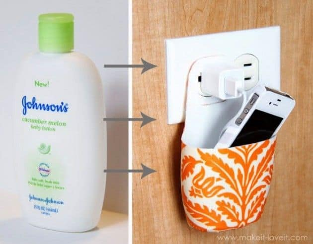 plastic phone charger holder