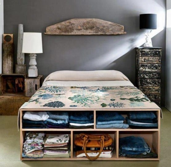 plywood box bed storage