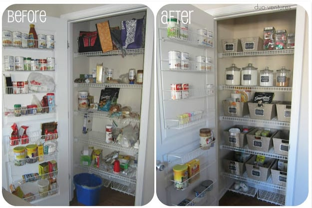 reorganize pantry by food type