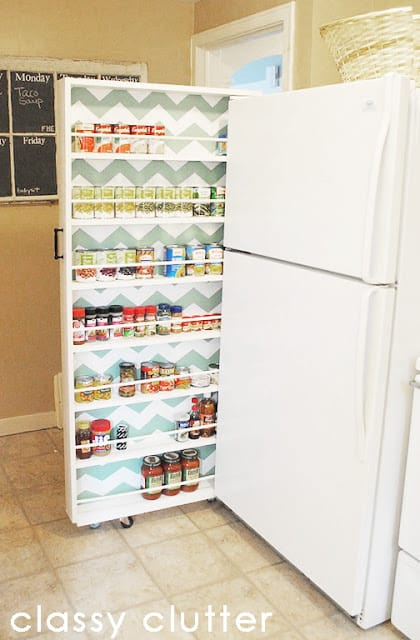 side fridge pantry