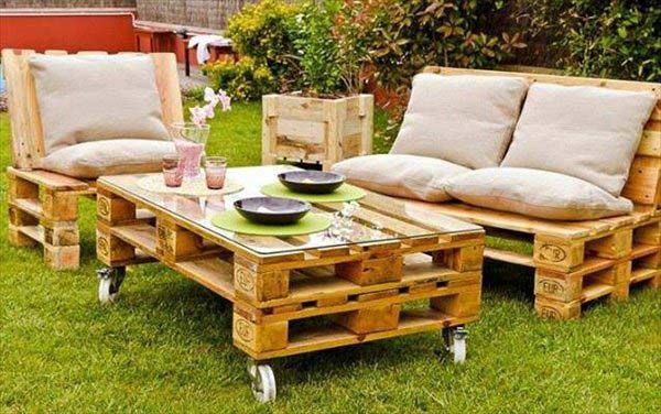 wooden table patio furniture pallet