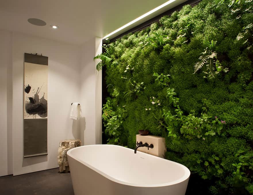 1 live moss wall in the bathroom - Design Ideas