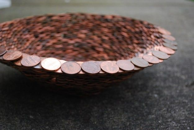 bowl made from pennies