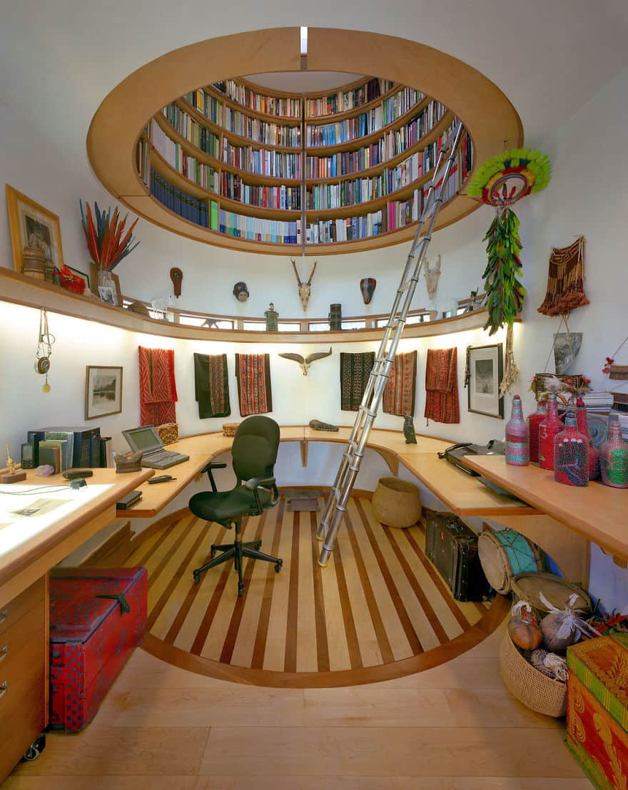 circular ceiling library