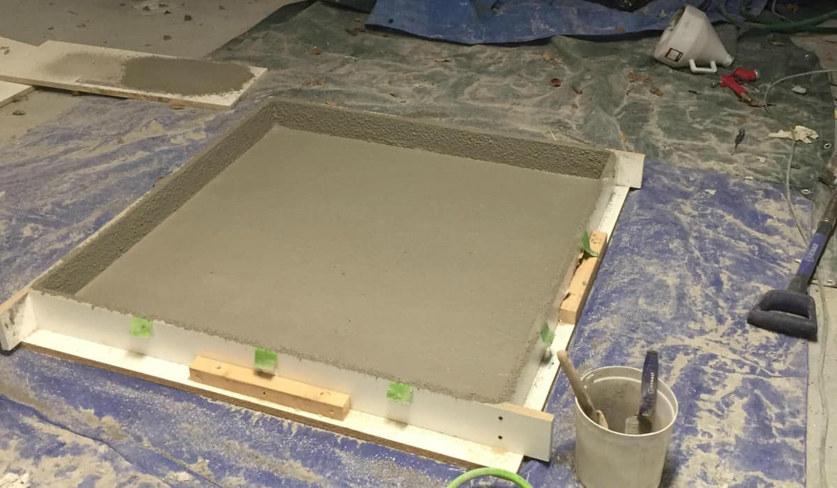 How to make a concrete slab coffee table diy cozy home for Best way to clean slabs