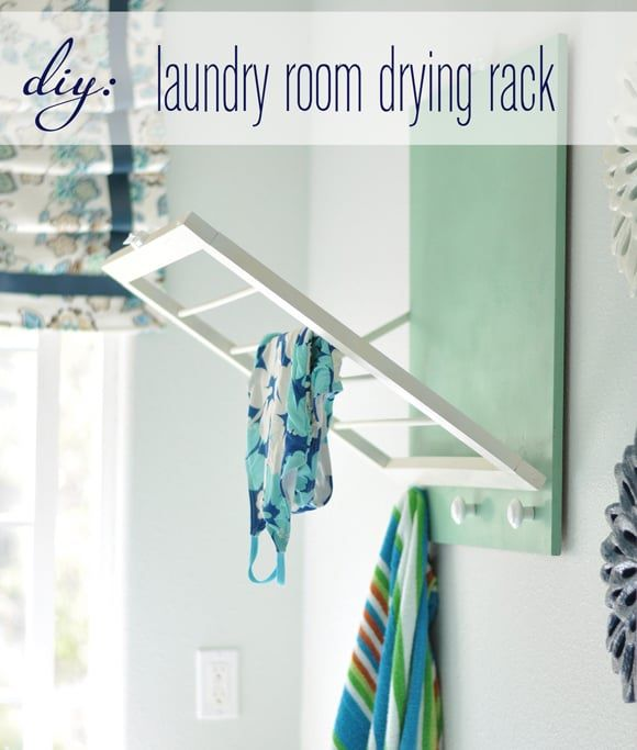 diy fold down drying rack