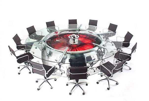 jet engine conference table