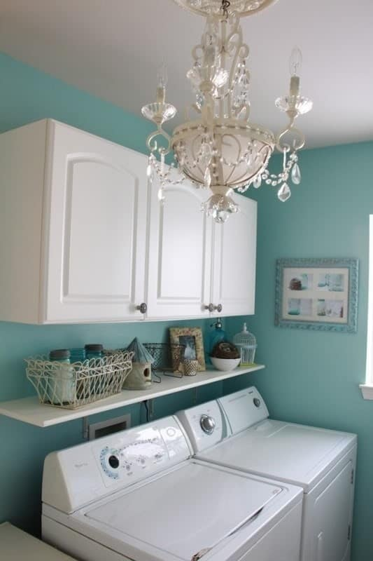 laundry room chandelier