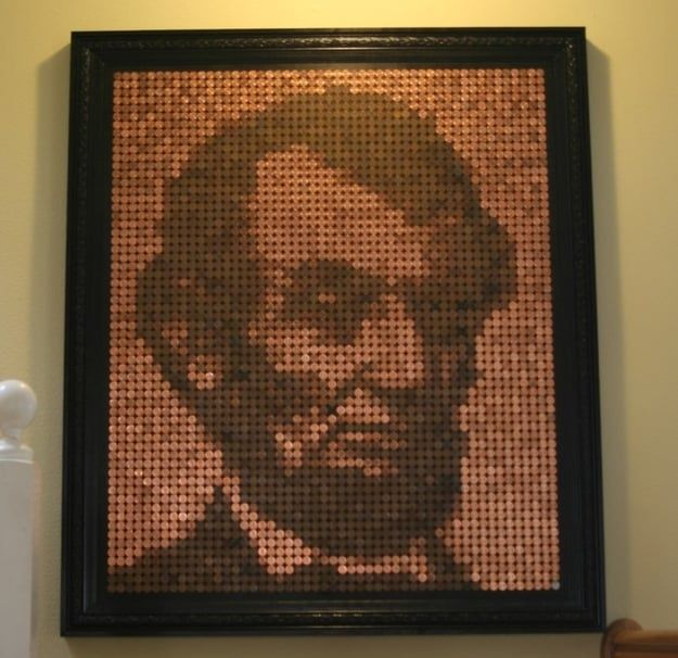 lincoln penny art