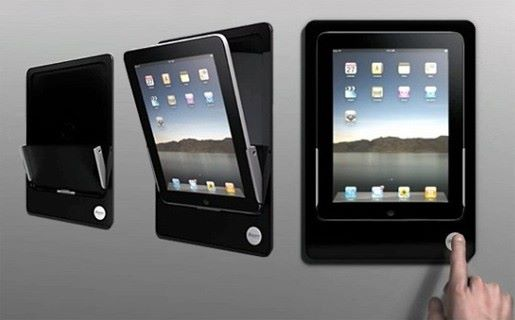 mounted ipad holder