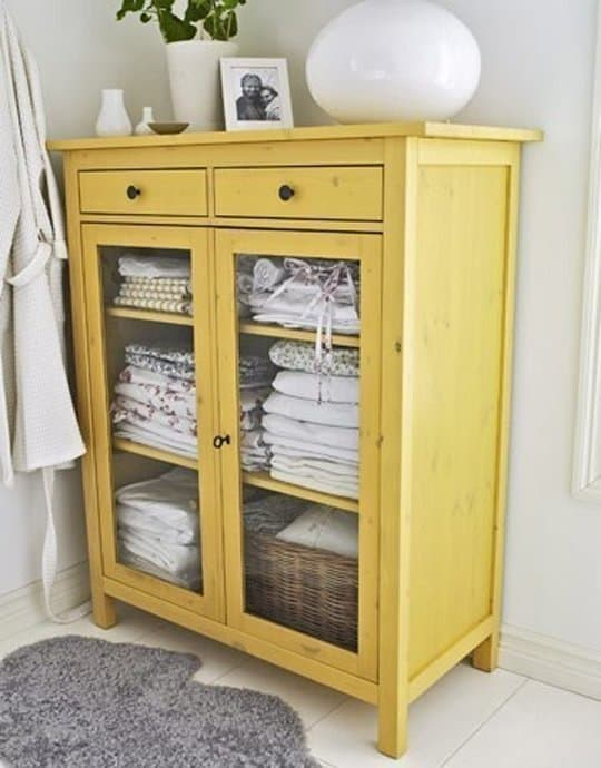 old cabinet for linens and towels