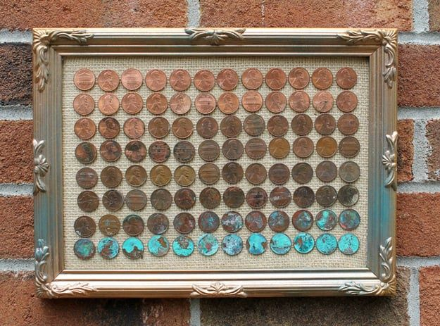 penny gradient wall art