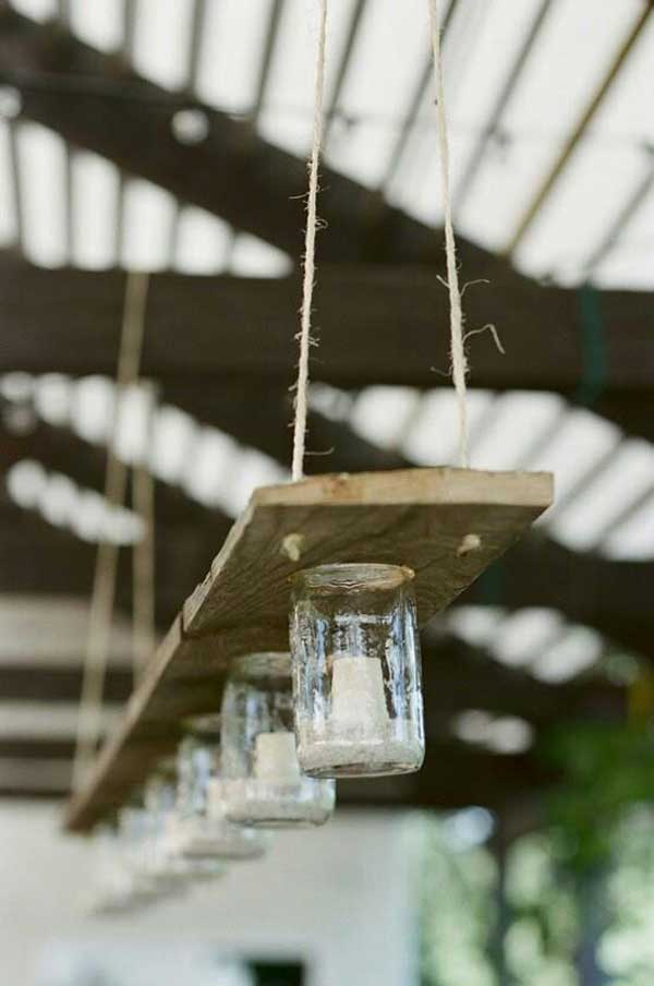 rustic light mason jars