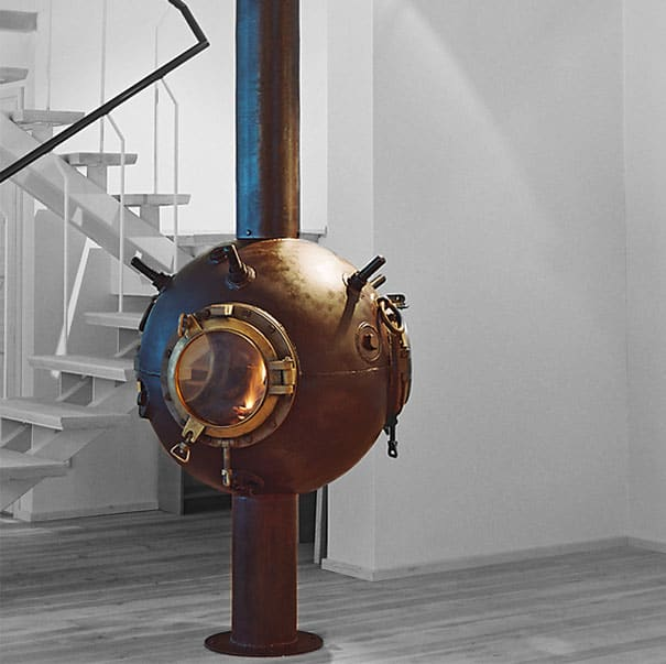 sea mine fireplace
